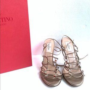 Valentino Garavani Strappy Rockstud Sandal Heel